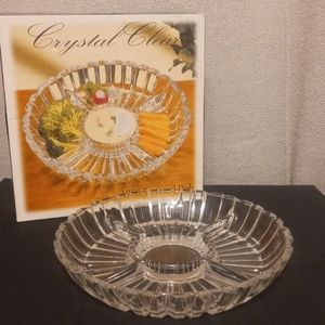 Crystal Clear Alexandria Sectional Glass Dish Tray